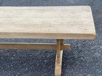 Bleached Oak Trestle End French Farmhouse Dining Table (17 of 22)
