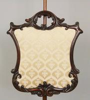 Good Quality Victorian Mahogany Pole Screen (3 of 6)