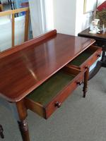 Victorian Mahogany Writing Table or Dressing Table (3 of 5)