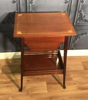 Edwardian Inlaid Mahogany Sewing Box (5 of 11)