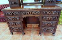 Country Oak Italian Dressing Table Cherubs c.1860 (10 of 12)