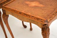 Pair of Antique Queen Anne Style Burr Walnut Side Tables (4 of 8)