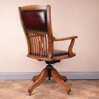 Teak Revolving Office Desk Chair (7 of 17)