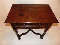 William & Mary Oak Side Table (7 of 8)