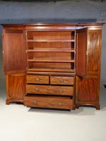 George III Period Mahogany Breakfront Wardrobe (2 of 8)