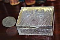 Extremely Attractive & Very Finely Cut Crystal Glass Box