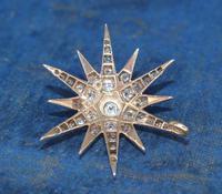 Diamond Star Pendant Set with Old Cut Diamonds (4 of 6)