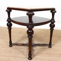 Marble Oak Side Table Continental Queen Anne (6 of 10)