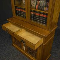 Edwardian Oak Bookcase (3 of 6)