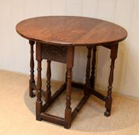 Small Oak Drop Leaf Table c.1920 (5 of 8)