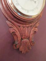 Small  Antique Polished Oak Decorative Banjo Barometer (8 of 8)