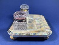 Victorian Mother of Pearl & Abalone Inkstand (5 of 15)
