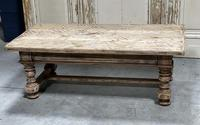 Rustic French Bleached Oak Coffee Table with 2 Drawers (17 of 19)