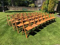 Antique Set of 8 Folding Beech Chairs (9 of 9)