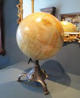 """1930's 12"""" Plaster Terrestrial Globe on Stand (8 of 8)"""