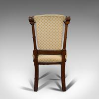 Set of 4 Antique Chairs, Scottish, Walnut, Suite, Dining, Victorian c.1890 (4 of 12)