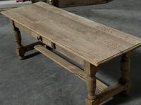 Large French Bleached Oak Coffee Table (12 of 14)