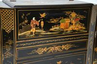 Art Deco Lacquered Chinoiserie Drinks Cabinet / Sideboard (6 of 16)