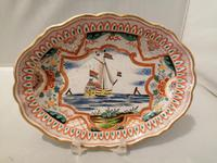 Incredible Quality 18th Century Dutch Delft doré Butter Tub (9 of 10)