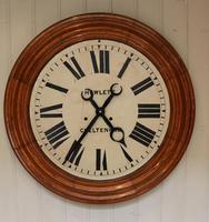 Rare 33 Inch Industrial Oak Wall Clock (5 of 10)