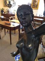 Pair of Bronze Blackamoor Lamps (3 of 9)