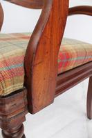 Victorian Mahogany Desk Chair / Open Armchair (12 of 13)