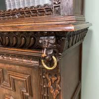 Victorian Carved Oak Antique Bookcase (6 of 9)