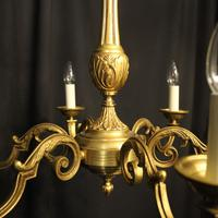 French Gilded Bronze 6 Light Chandelier (3 of 10)