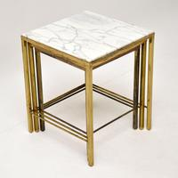 1950's Brass & Marble Nest of Tables (5 of 9)