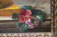 18th Century French Oil Painting. Still Life of Flowers. Artist: J. L Boizet 1789 (8 of 11)