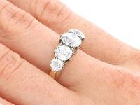 3.29ct Diamond & 18ct Yellow Gold Five Stone Ring c.1925 (8 of 9)
