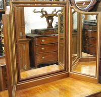 Large French triptych dressing table mirror (4 of 7)