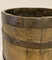 Antique Oak Coopered Barrel Stick Umbrella Stand (5 of 5)
