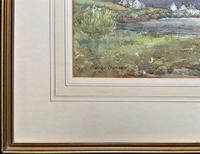 Andrew Gamley RSW - A Lochside Village Watercolour Painting (11 of 12)