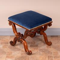 Good Quality 19th Century X-framed Rosewood Stool (4 of 10)