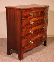 19th Century Mahogany Bowfront Chest of Drawers - England (8 of 8)