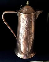 Large Arts & Crafts Copper Repousse Jug (2 of 6)