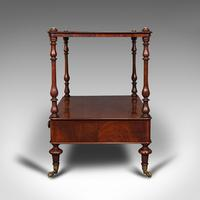 Antique Two Tier Side Table, Mahogany Whatnot, Regency Canterbury, Display Stand (5 of 12)
