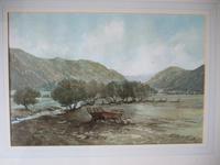 "Sir John Stibbon OBE:  watercolour entitled ""Towards Nantgwynant from Beddgelert, Snowdonia"" (2 of 4)"