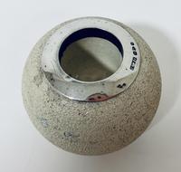 Antique Ceramic Match Strike Holder with Silver Rim (3 of 11)