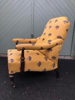 English Walnut Upholstered Armchair for recovering (6 of 8)