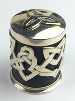 """Solid Silver """"Hallmarked"""" Celtic  Lidded Pot Very Unusual Available Worldwide (8 of 10)"""
