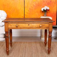 Desk Writing Table Victorian Pine (8 of 9)
