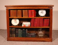 Open Bookcase from England in Walnut 19th Century
