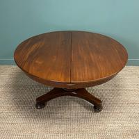Antique Victorian Mahogany Pedestal Extending Dining Table (5 of 7)