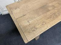 Bleached Oak Farmhouse Refectory Dining Table (9 of 22)
