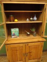 Antique Pine Kitchen Dressser with Glazed Top, Country Dresse. modestly sized (12 of 19)