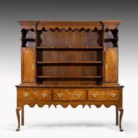 Good Mid 19th Century Oak Dresser & Rack (2 of 6)