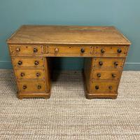Unusual Victorian Painted Pine Antique Desk (4 of 6)