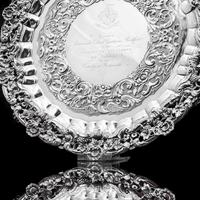 Magnificent Georgian Sterling Silver Tray / Salver with Military Lieutenant Interest - James Fray 1833 (20 of 23)
